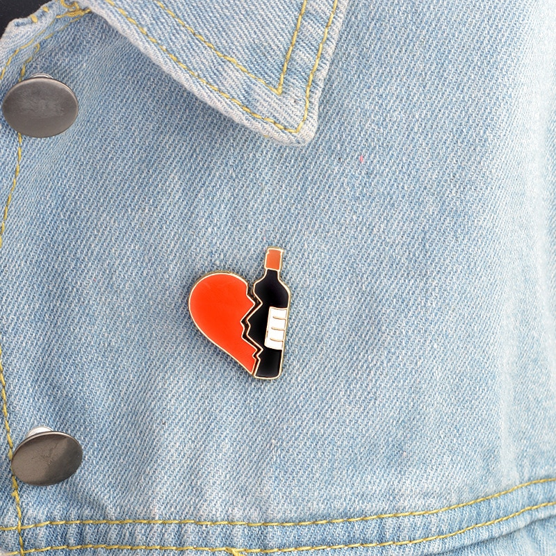 2pcs Brooch Pins for Women Jewelry Broken Heart Wine Bottle Brooches Clothes Bag Decoration - 22873631 , 6008955444 , 322_6008955444 , 28334 , 2pcs-Brooch-Pins-for-Women-Jewelry-Broken-Heart-Wine-Bottle-Brooches-Clothes-Bag-Decoration-322_6008955444 , shopee.vn , 2pcs Brooch Pins for Women Jewelry Broken Heart Wine Bottle Brooches Clothes Bag