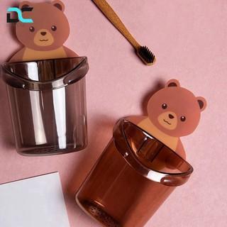 [Có Sẵn] Combo 2 Giá đựng bàn chải đánh răng dán tường hình gấu chịu lực 5kg