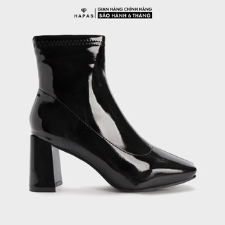 Giày Bốt Nữ Boot Khoá Cạnh Cổ Thấp 7Phân HAPAS - BOT762