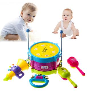 ☜♠☞5pcs/set Baby Drum Musical Instruments Toy Drums Set Educational Children Toys