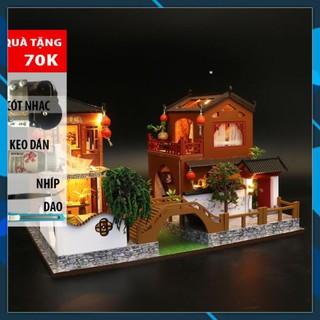 Mô hình nhà búp bê gỗ DIY Nhà búp bê mô hình nhà lắp ghép Poems and Dreams L902 Toy World thumbnail