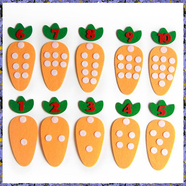 10 Pcs/Set Children Educational Toy Non-woven Children's Puzzle Handmade Toys