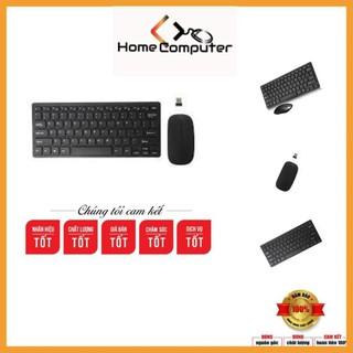 Combo bộ phím chuột mini không dây GKM 901 tặng kèm pin, bảo hành 6 tháng.Home Computer