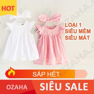 Váy Đầm Sơ Sinh đầy tháng Ozaha Cao Cấp, Bông Tuyết Nổi Bật 100% Cotton, Thoáng Khí