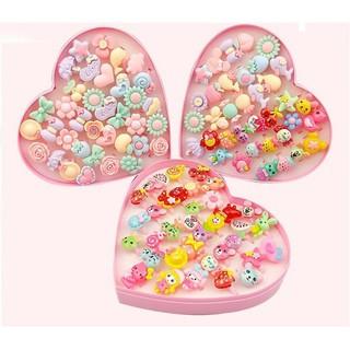 Có sẵn – hộp nhẫn 36 chiếc hình cute dễ thương cho bé gái