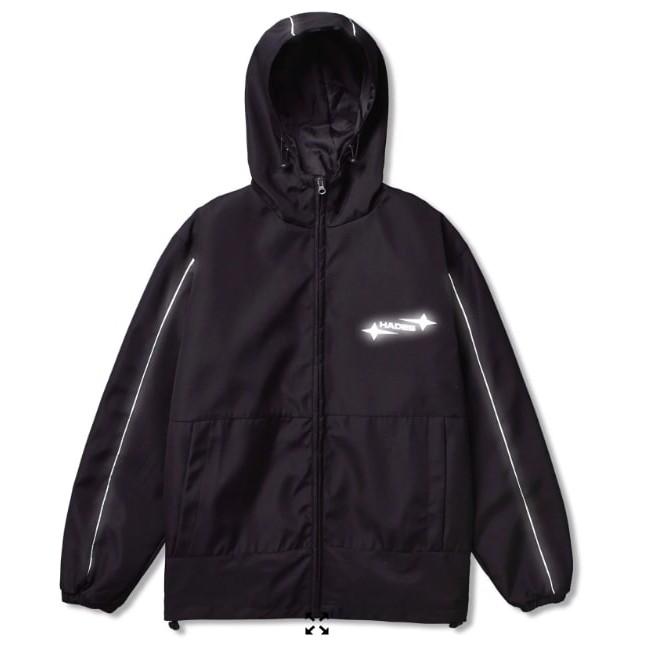 Áo khoác dù Hades form rộng unisex phản quang chống nắng dài tay giả vest Jacket Original Reflective 2 lớp