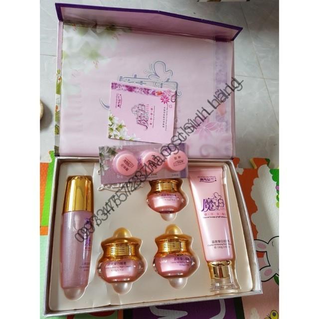 (CHÍNH HÃNG) bộ hoàng cung hồng 5 món ( tặng kèm set dùng thử mini và túi xách ) _chinhhanggiare188