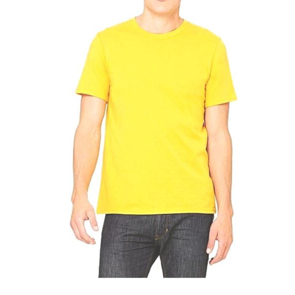 เสื้อยืด คอกลม Tshirt เสื้อยืดผ้าฝ้าย100% สีเหลืองสื้อยืด คอกลม Tshirt เสื้อยืดผ้าฝ้าย100% สีเหลือง