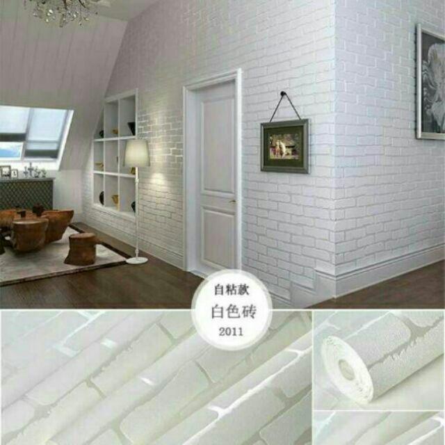 Giấy dán tường 3D vân nổi - gạch trắng (khổ rộng 0.53m) - 2995897 , 507237833 , 322_507237833 , 26000 , Giay-dan-tuong-3D-van-noi-gach-trang-kho-rong-0.53m-322_507237833 , shopee.vn , Giấy dán tường 3D vân nổi - gạch trắng (khổ rộng 0.53m)