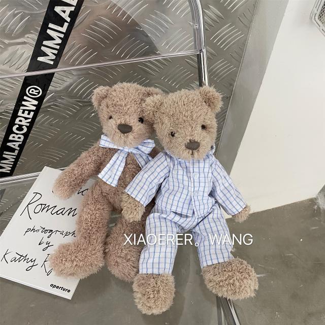 con gái☌✥trong bộ đồ ngủ dễ thương áo gấu búp bê sang trọng cô gái giường món quà sinh nhật cặp đôi