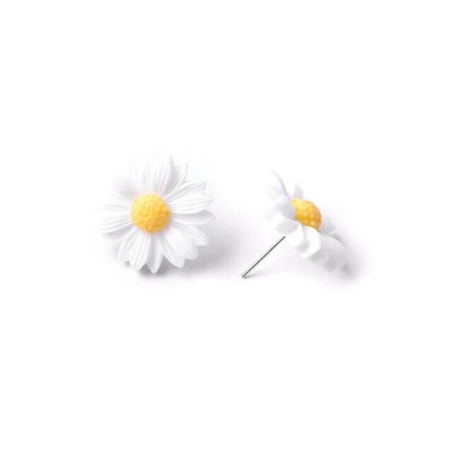 Bông tai hình hoa cúc hoạ mi