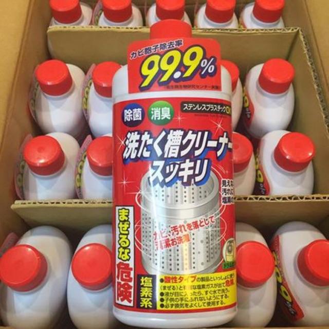 Nước Tẩy Vệ sinh lồng máy giặt Rocket 99,9% Nhật Bản