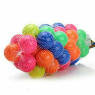 [Trợ giá] Túi 100 quả bóng nhựa đa sắc màu cho bé 12