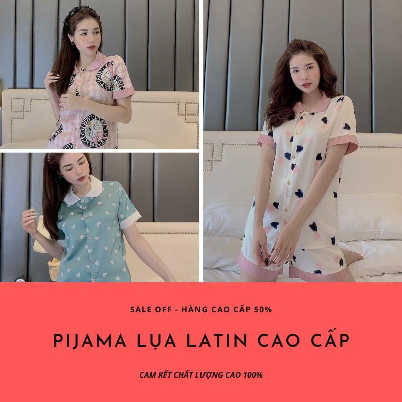 Mặc gì đẹp: Ngủ ngon hơn với Pijama lụa , đồ ngủ ngắn tay cộc đùi chất liệu latin cực mềm mịn thoáng mát , hơn 50 mẫu đẹp khác nhau Sunstore