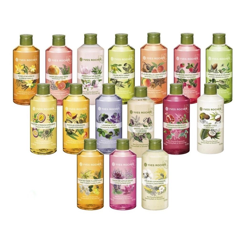 Yves Rocher - Sữa Tắm Thiên Nhiên Dưỡng Da Yves Rocher Les Plaisirs Nature Shower Gel 400Ml Gần 20 Mùi Hương