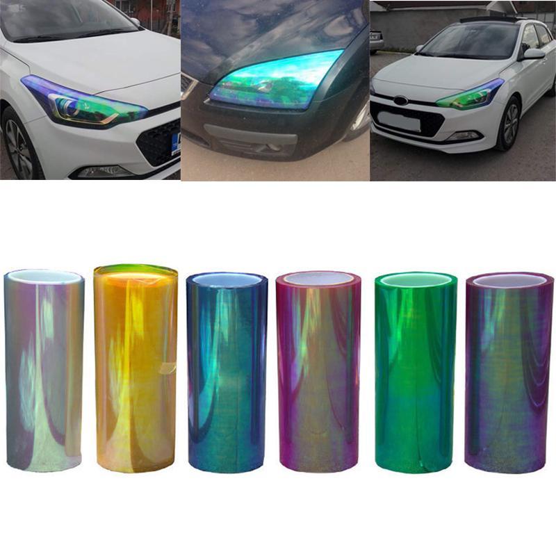 Auto Car Fog Light Lamp Headlight Taillight Tint Vinyl Film