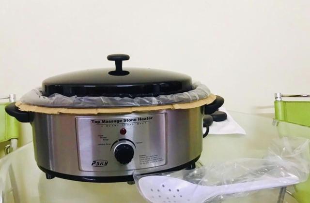 Nồi hấp đá nóng masaage