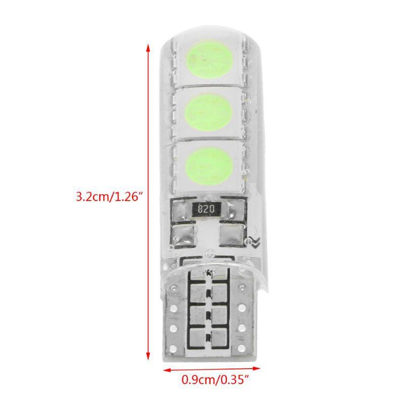 SUPB☀1X 12V T10 W5W Silica Gel 5050 6SMD 168 Car Red Lights LED License Plate Light