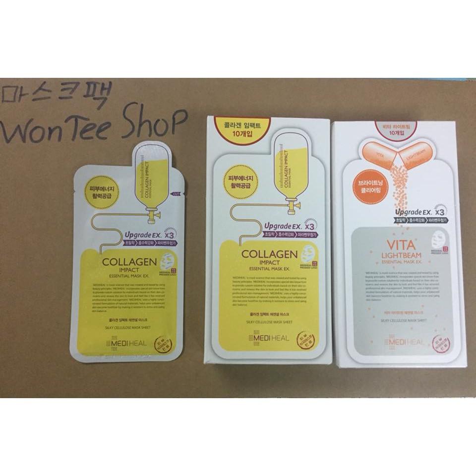 B 10 Gi Mt N Dng M Ngn Nga Lo Ha Da Mediheal Collagen Impact Essential Mask 25ml X10 Shopee Vit Nam