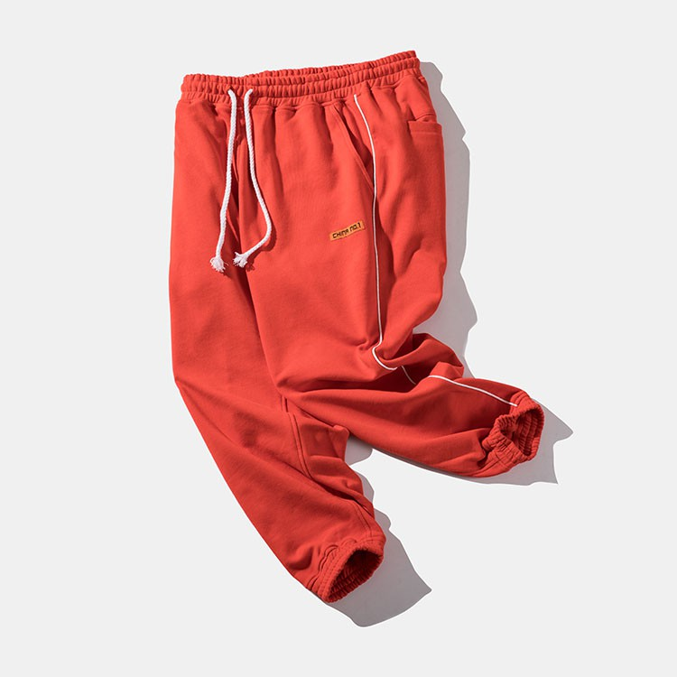 Men's sports pants with vertical stripes comfortable wide design