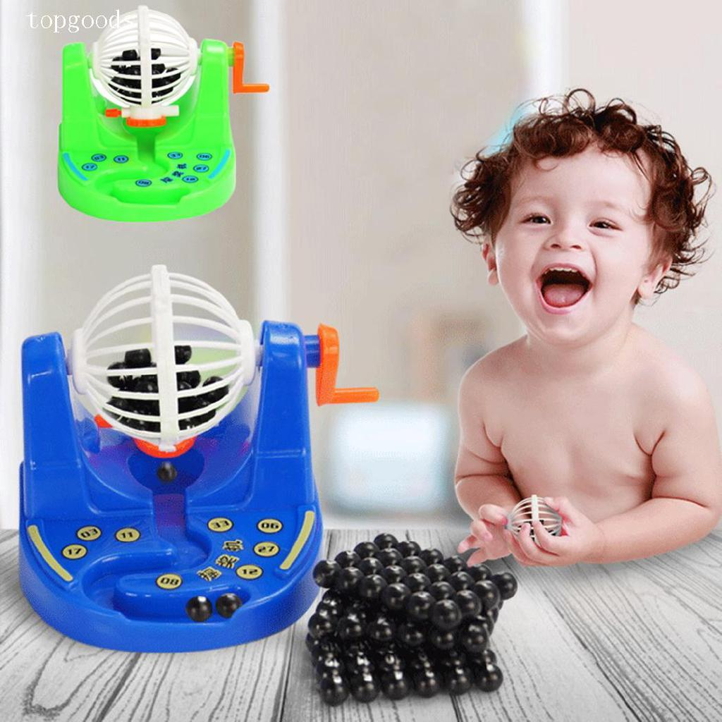 Cartoon Mini Bingo Game Machine With Lottery Numbers Balls Toy Kids Game topgoods.vn