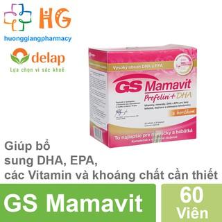 GS Mamavit Prefolin + DHA + EPA - Bổ sung dưỡng chất cần thiết cho phụ nữ mang thai và cho con bú (Hộp 60 Viên) thumbnail