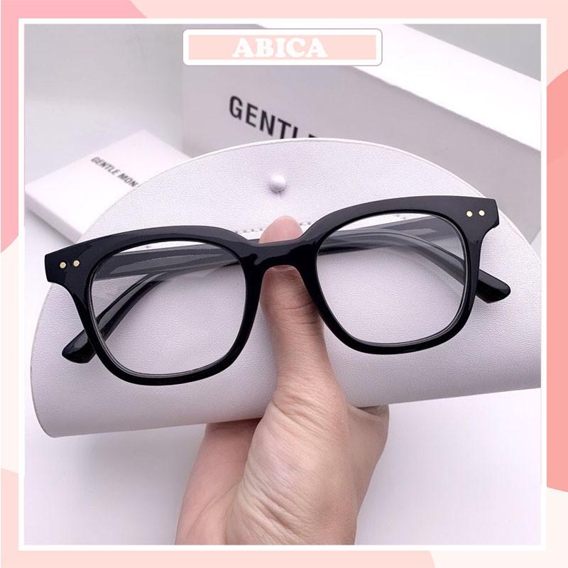 Kính cận thời trang nam nữ mắt vuông phong cách Hàn Quốc chống tia UV đẹp giá rẻ Hottrend ABICA 050