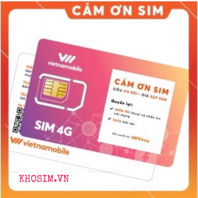 [ Miễn Phí 1 Tháng ) Sim VietNamobile bộ hoà mạng cảm ơn miễn phí vào mạng