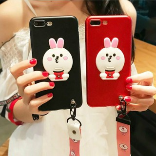 OPPO F1s R9s R9s Plus Women's Fashion Rabbit TPU Soft Back Cover With Lanyard