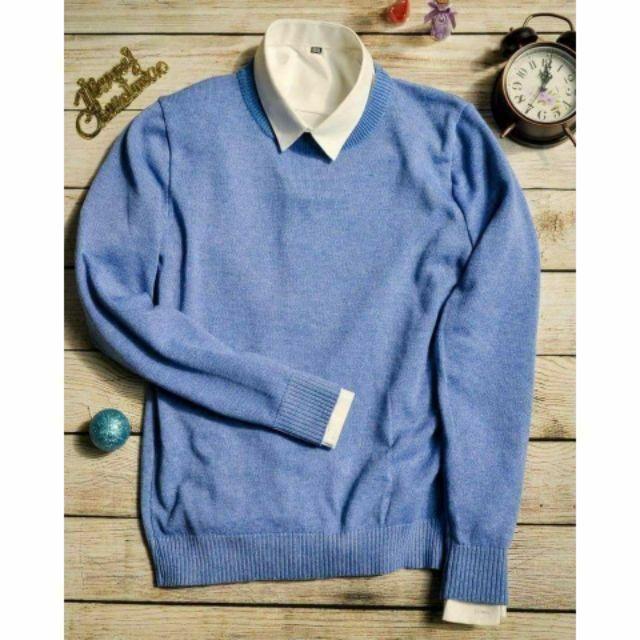 Áo len tròn cotton