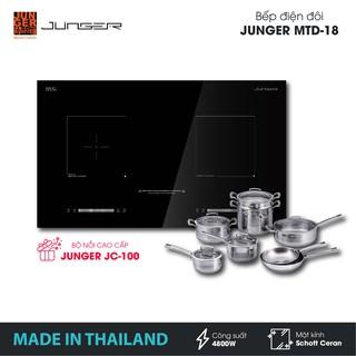 Bếp đôi điện từ hồng ngoại Junger MTD-18 - Công suất 4800W - mặt kính Schott Ceran | Bảo hành 2 năm | MADE IN THAILAND