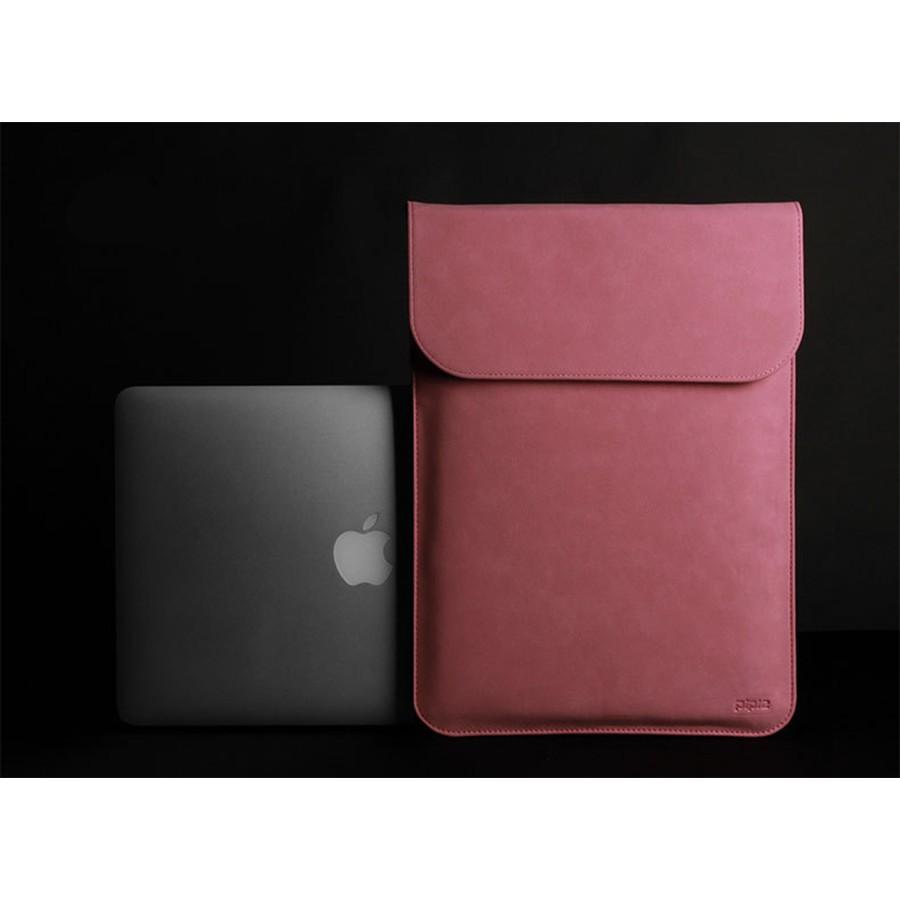 [Nhập ELCLMAY hoàn 30K xu đơn từ 200K]Bao da Macbook Da lộn chính hãng chất từng đường kim mũi chỉ – Màu hồng Giá chỉ 184.000₫