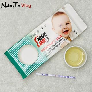 Que test thử thai TRUELINE hCG hộp 1 test NTV