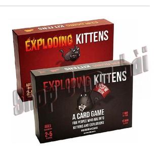 Combo Exploding Kitten – 02 bộ Mèo nổ màu đỏ và đen cơ bản