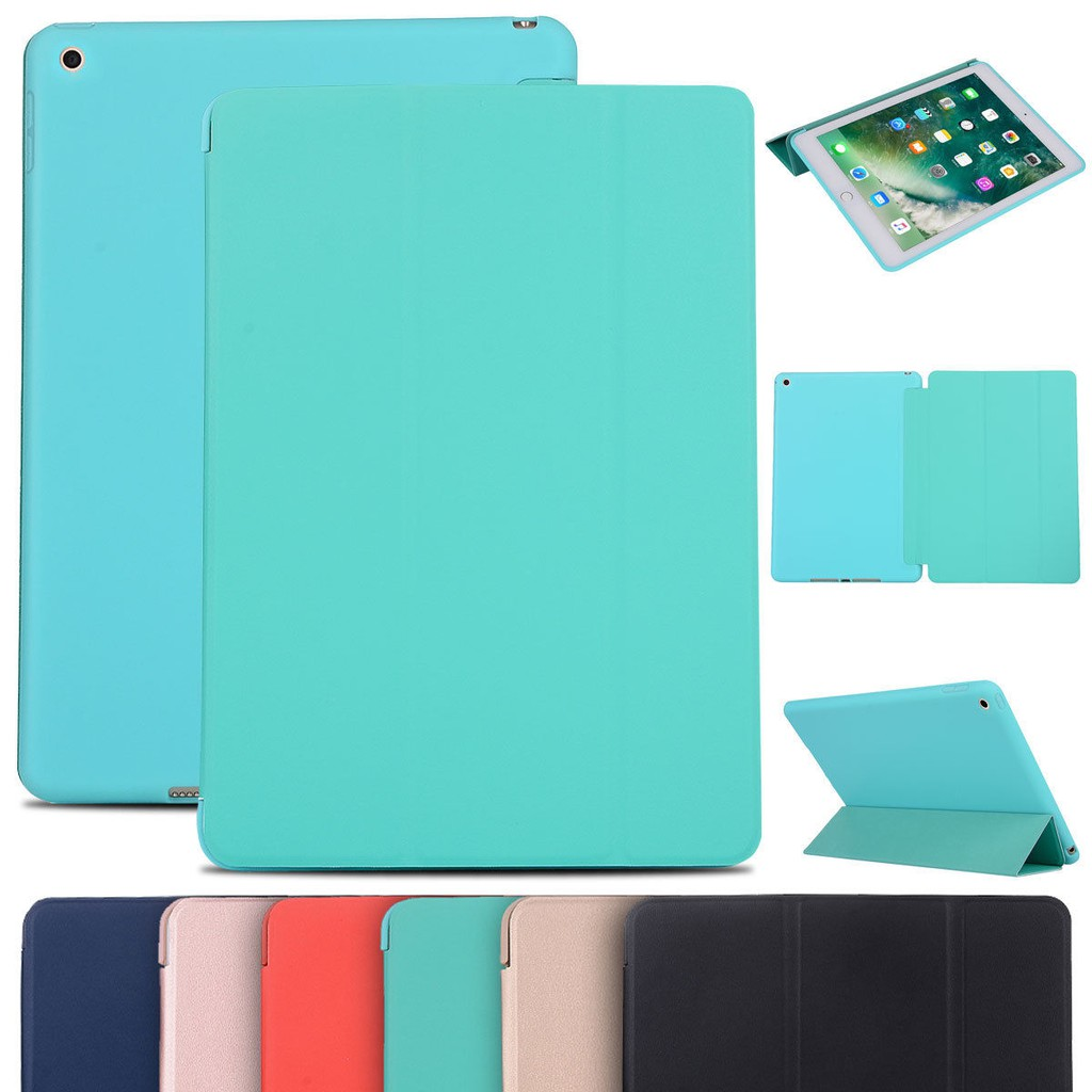 Bao da silicone dẻo - Smart cover dành cho iPad Mini123/ Mini 4/ Air/ Air 2/ New 2017/ Pro 9.7/...