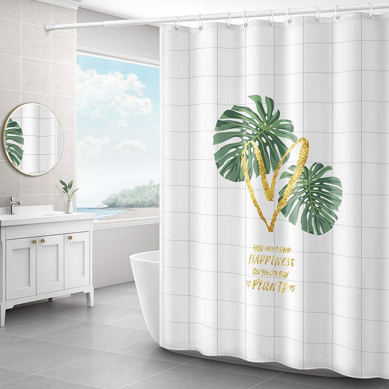 Bộ Rèm Cửa Dày Dặn Chống Thấm Nước Chống Ẩm Mốc Tiện Dụng Cho Phòng Tắm / Nhà Vệ Sinh