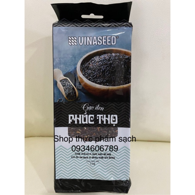 [1kg] Gạo Lứt Đen Phúc Thọ Vinaseed ❤️ Gạo Sạch Cho Người Ăn Kiêng