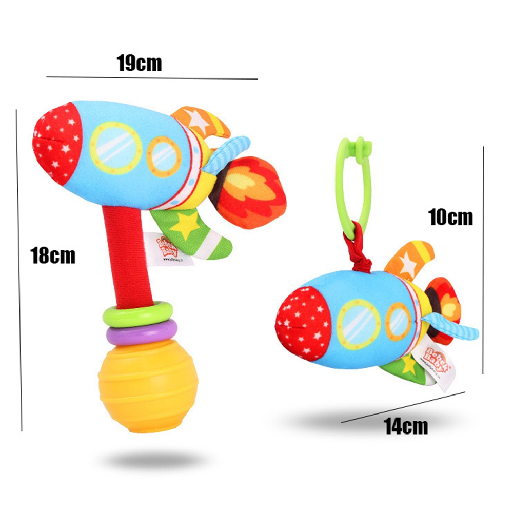 Plush Toys Christmas Gift Kids Soft Rings Crab hanging Early Educational Doll Baby Cartoon Rattles