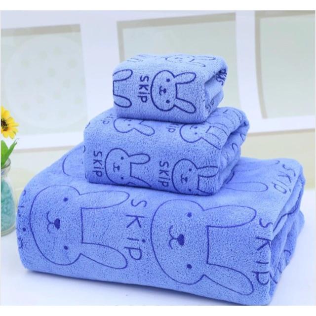 10 bộ khăn gấu+10 bộ khăn thỏ (đủ mầu)