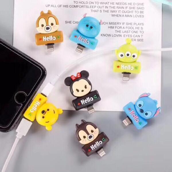 Cổng sạc lightning họa tiết hoạt hình chuyên dụng cho iphone 7 8 Plus X XS Max XR