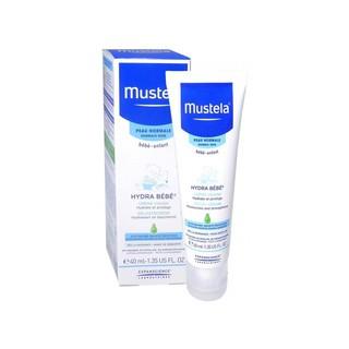 Kem Dưỡng Da Mustela 40ml (Da Thường) Hydra Bebe Facial Cream