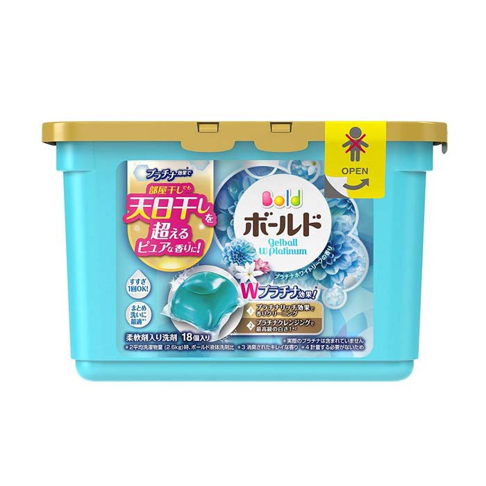 Hộp 18 viên giặt xả Gelball Nhật Bản