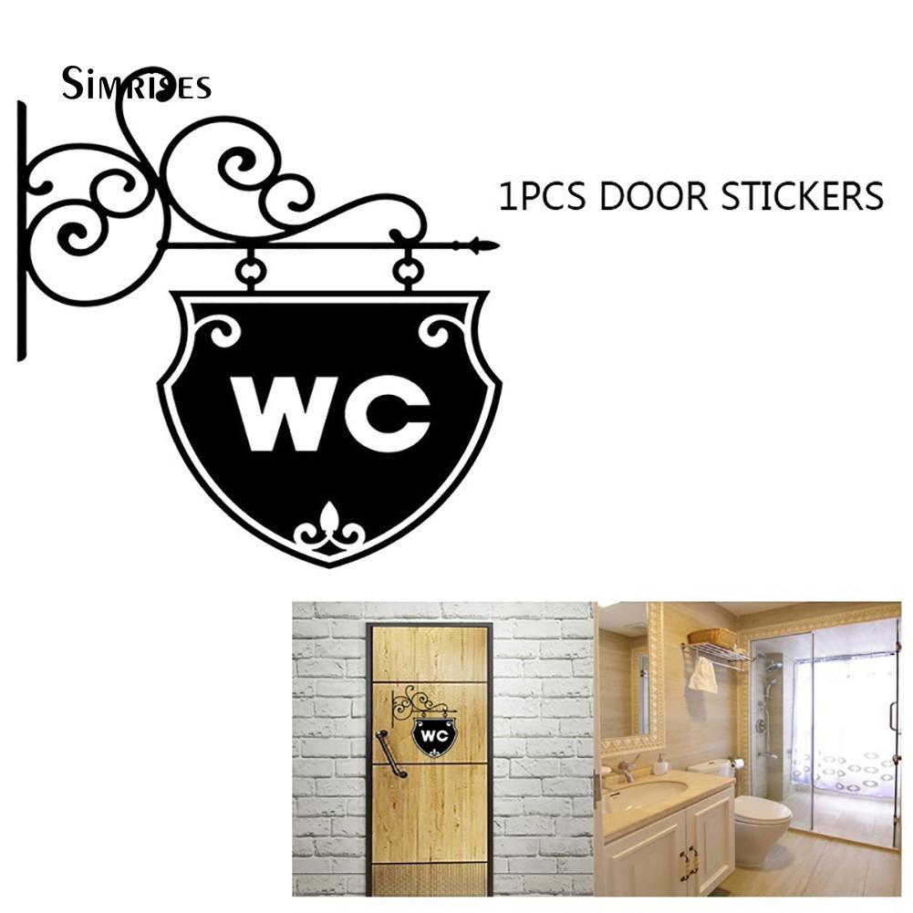 Đề can dán tường trang trí toilet đa dụng chất lượng cao