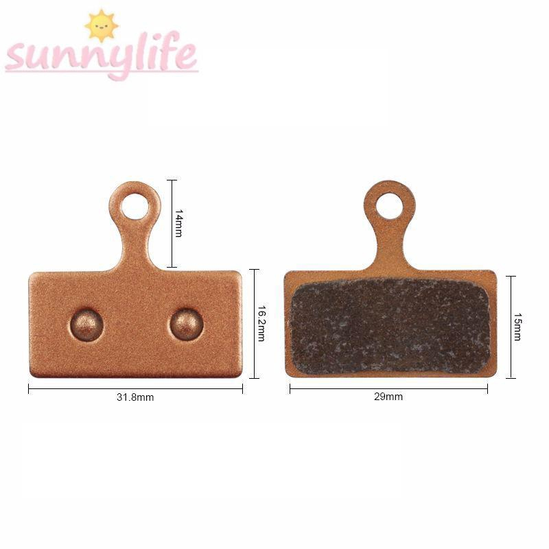 Brake pads Parts Tool Lightweight 2 Pairs Disc For shimano Rose gold Sintered
