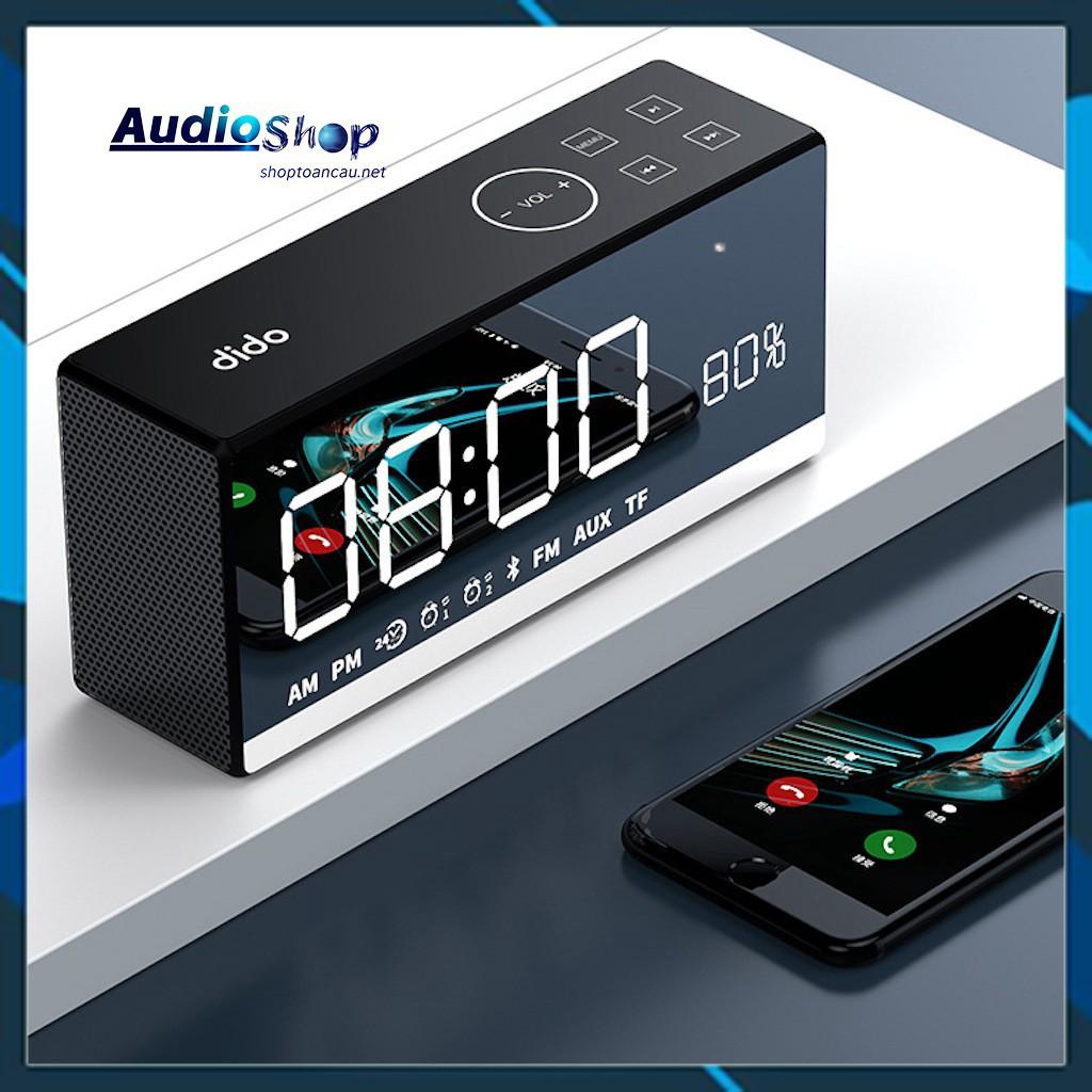 Loa bluetooth FM - Thẻ TF SD - Remote điều khiền từ xa - AUX 3.5mm - hiển thị % pin - đồng hồ Led - model dido x9.