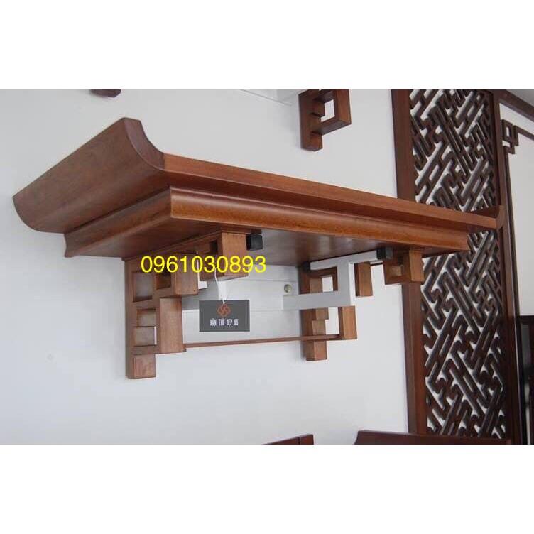 bàn thờ treo gỗ sồi kt 48x69 mẫu chân vuông