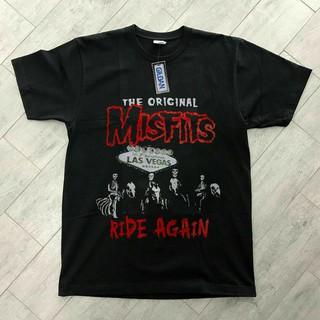 Áo thun in hình Misfits Shirt Las Vegas phong cách thể thao thích hợp làm quà Giáng sinh cho nam