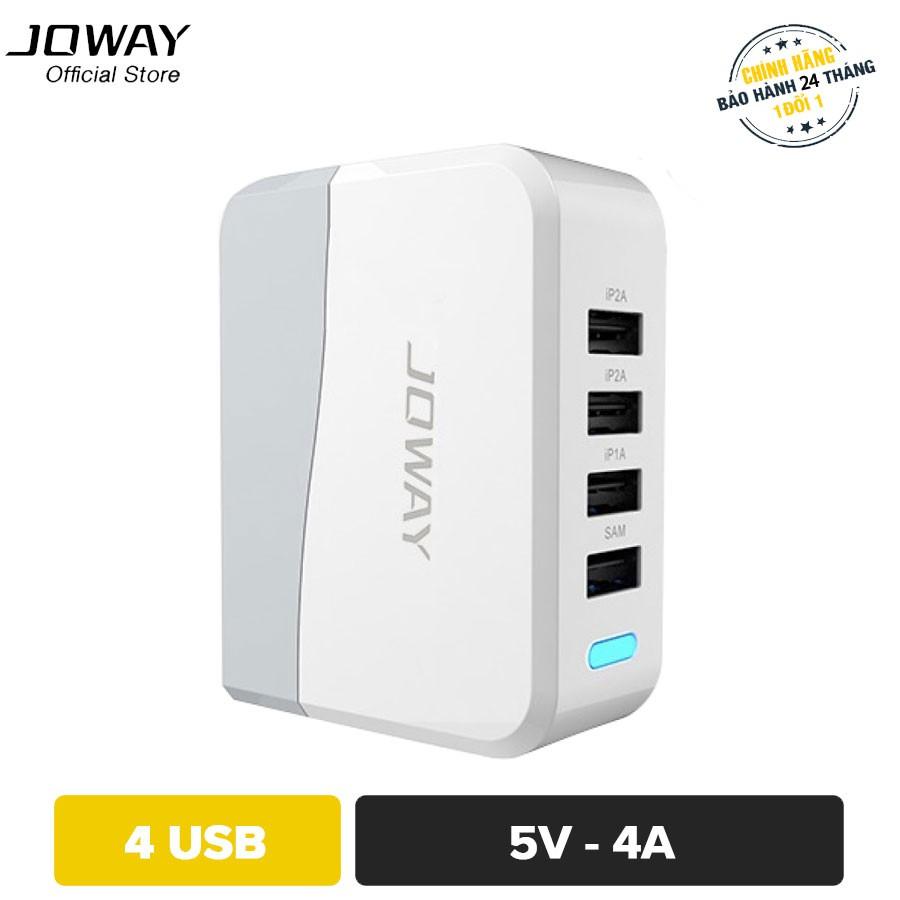 Sạc thông minh JOWAY JC13 4 cổng USB Output 2.0A - Hãng phân phối chính thức