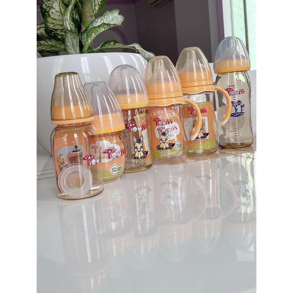 Bình sữa PPSU TOOM 120ml & 160ml & 240ml - Made in Japan ( có tặng 1 núm )