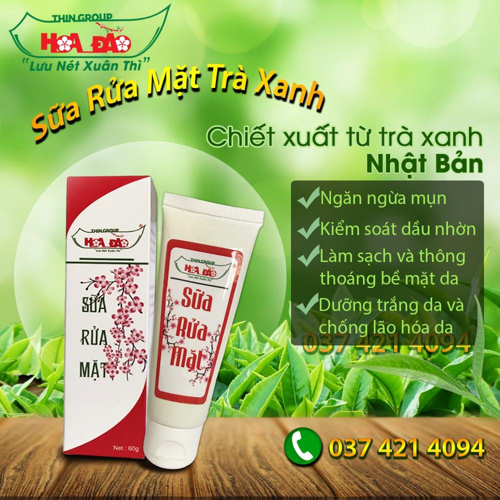[Mã COSHOT24 hoàn 8% xu đơn 250K] Sữa rửa mặt dành cho da mụn nám và thâm Hoa Đào Thingroup